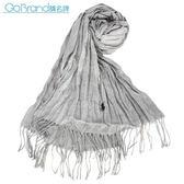 RALPH LAUREN POLO 小馬LOGO素面披肩圍巾(淺灰色)780909-1
