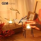 ins風創意麋鹿燭台擺件北歐客廳餐桌浪漫燭光晚餐道具裝飾品擺設 NMS小明同學