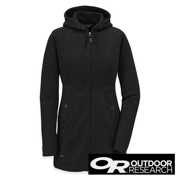 Outdoor Research LONGITUDE 女 針織 連帽保暖大衣『黑』 保暖外套 90955