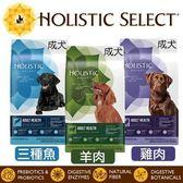 *KING WANG*Holistic select 活力滋 成犬《雞肉│羊肉│三種魚 配方》15磅 狗飼料