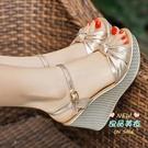 楔形涼鞋 女厚底韓版2020年夏季新款性感時裝百搭仙女風鬆糕高跟鞋