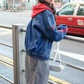 牛仔外套女生春秋裝新款初中高中學生韓版寬鬆百搭短款上衣服【免運快出】