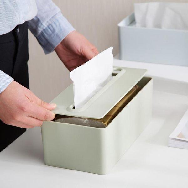 塑料升降紙巾盒家用多功能抽紙盒客廳茶幾歐式大號餐巾紙盒【蘇荷精品女裝】