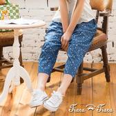 【Tiara Tiara】夜空繁星點點七分褲(藍)