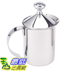 [美國直購] HIC Milk Creamer Frother Coffee Foam Pitcher 不鏽鋼 奶泡杯 奶泡器 Stainless Steel, 14-Ounce