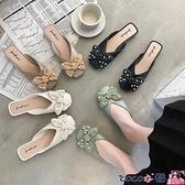 穆勒鞋 包頭半拖鞋女夏時尚外穿網紅仙女風穆勒懶人鞋蝴蝶結潮涼拖鞋 寶貝計畫