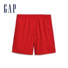 Gap男裝 舒適活力亮色鬆緊休閒短褲 574070-正紅色