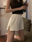 運動短褲 運動短褲女ins潮韓版寬鬆高腰休閒百搭外穿a字闊腿熱褲子 麗人印象 免運