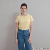 【GIORDANO】 女裝素色竹節棉T恤 - 14 淺檸檬黃