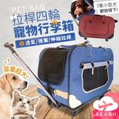 走走去旅行99750【PG005】免運 拉桿四輪寵物行李箱 透氣捲簾 貓狗拉桿包 寵物外出包 手提包 2色