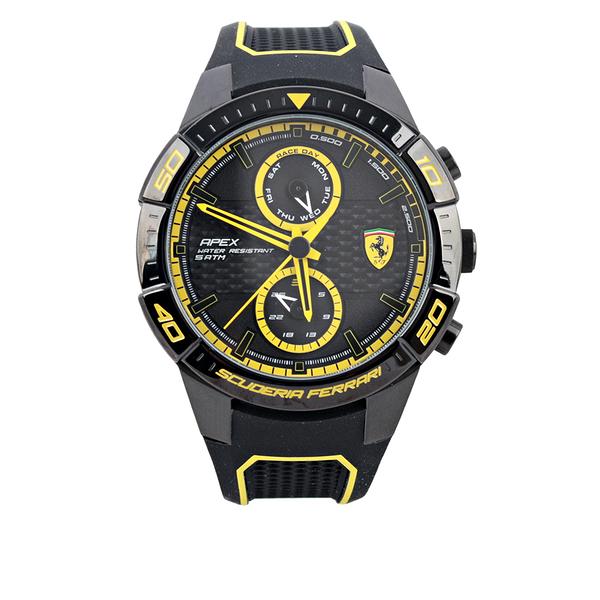 【Ferrari】APEX 日期雙環功能男錶(黃色) 0830633
