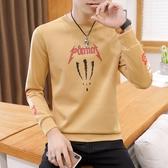 男士短袖t恤青少年秋季圓領套頭衛衣