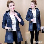 2019春季新款韓版牛仔開衫外套女中長款小個子寬鬆大碼學生上衣 mj11034『寶貝兒童裝』