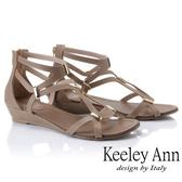 2019春夏_Keeley Ann細條帶 輕巧時尚線條感平底涼鞋(咖啡色)