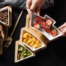 北歐創意竹木聖誕樹果盤家用餐具托盤陶瓷點...