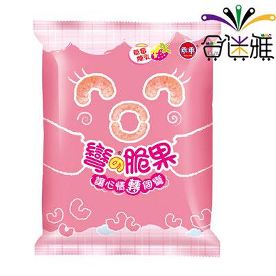 【免運直送】乖乖彎的脆果-草莓煉乳口味40g(12包/箱)*2箱