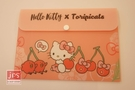 Hello Kitty&Toripicals 凱蒂貓 熱帶水果鳥 B6資料袋 收納袋 櫻桃 KRT-215419