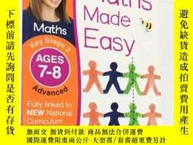 二手書博民逛書店Maths罕見Made Easy Ages 7-8 Key Stage 2 Advanced 數學輕松時代7-8關