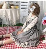 洛麗塔洋裝日繫軟妹復古學院風Lolita連衣裙女秋【不二雜貨】