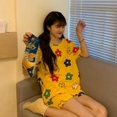 夏季2020新款韓版家居服套裝女春秋薄款學生短袖睡衣睡褲兩件套潮新品上新