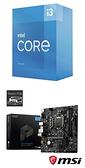 【自組DIY兩件組I3】Intel i3-10105+微星 B560M PRO-E