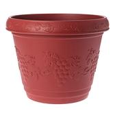 葡桔花盆 1尺2 磚紅色