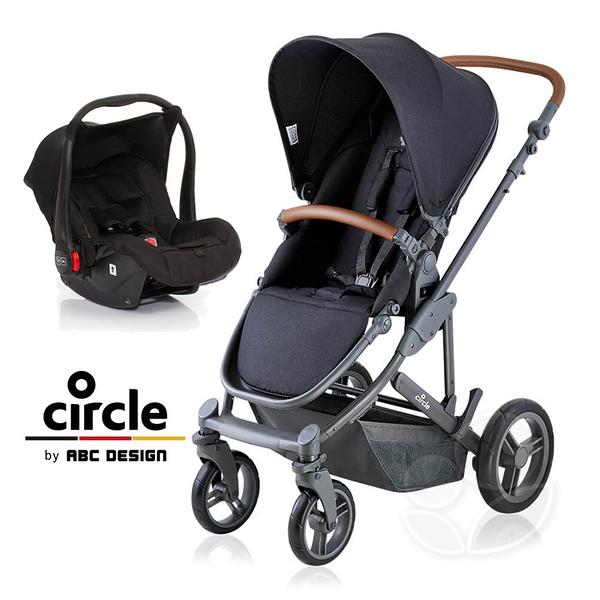 Circle Catania 4 輕量歐系雙向手推車(經典黑)+Risus 提籃式汽車安全座椅(含轉接器)【贈好禮三選一】