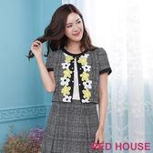 RED HOUSE-蕾赫斯-格紋花朵印花外套(共2色)