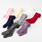純色蝴蝶結點綴全包褲襪 童襪 褲襪 保暖襪