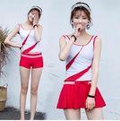 女三件套小胸平角褲顯瘦泳衣Eb11342『小美日記』