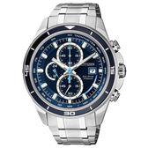 CITIZEN Eco-Drive GENTS光動能競速鈦運動腕錶/藍/CA0349-51L