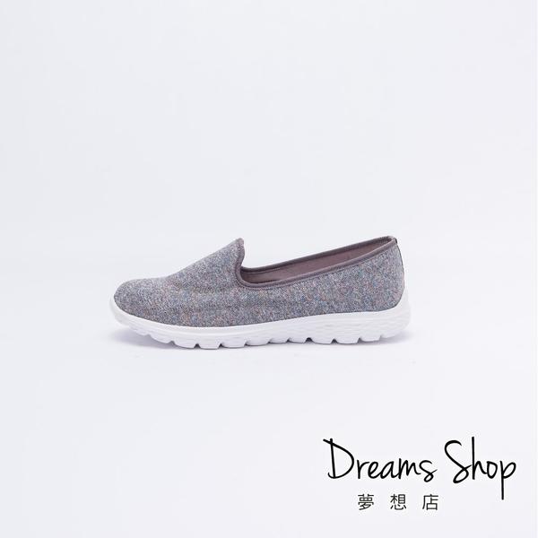 大尺碼女鞋-夢想店-MIT台灣製造超輕量科技記憶鞋墊透氣休閒鞋3cm(41-45)【JD6513】意灰