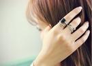 戒指 現貨 韓國時尚潮風 仿古幾何寶石鉚釘水鑽 3件組戒指 S5119 批發價 Danica 韓系飾品