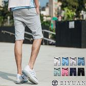 超彈力素面短褲【JN3965】OBI YUAN完美合身剪裁休閒褲 共8色