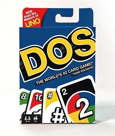 『高雄龐奇桌遊』 DOS Card Game 附中文說明書 Mattel 正版桌上遊戲專賣店