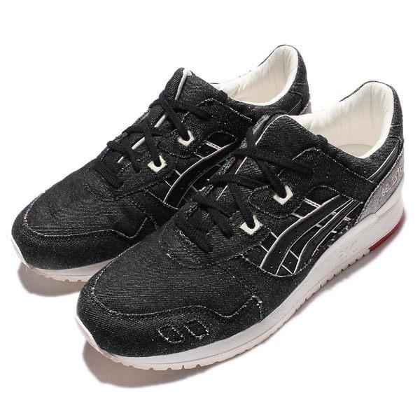 Asics 休閒慢跑鞋 Gel-Lyte III 3 黑 白 紅 牛仔布 單寧 男鞋 【PUMP306】 HN6C0-9090