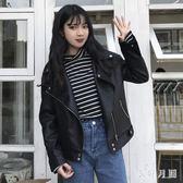 中大尺碼時尚女皮衣女外套潮sd2114【衣好月圓】