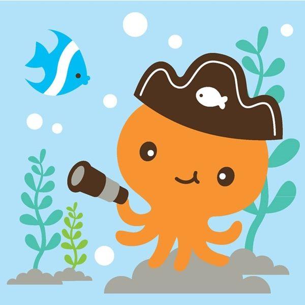 LOVIN 超萌韓版數字油畫 海洋系列可愛章魚(5) 1幅