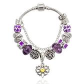 串珠手鍊-高貴優雅紫色系列水晶飾品女配件73kc357【時尚巴黎】