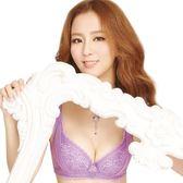 思薇爾-珊瑚戀系列B-F罩蕾絲包覆內衣(羅曼紫)