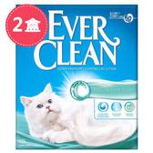 【Ever Clean】藍鑽歐規結塊貓砂-9kgX2盒-海洋香氛