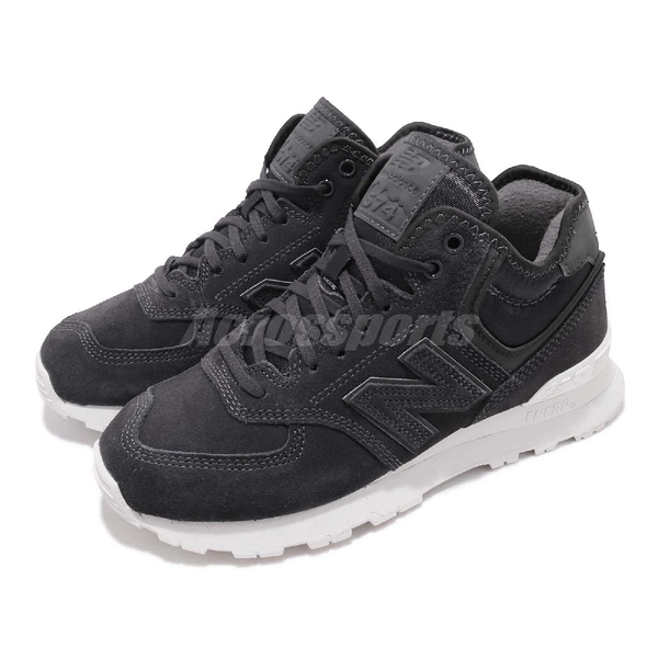 New Balance 休閒鞋 NB 574 黑 白 女鞋 中筒登山靴型 運動鞋 【ACS】 WH574BBB