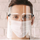 180° 帶鏡框面罩(6 件裝). 適合家庭,公司員工,餐飲美髮沙龍等專業工作環境