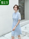 雪紡洋裝旗袍改良版連身裙年輕款夏新名媛氣...