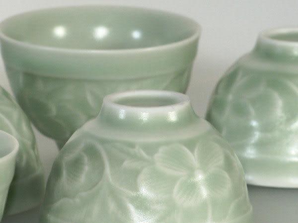 鹿港窯~ 居家開運珍藏~青瓷茶杯【 青瓷油光杯(6入) 】◆附精美包裝◆免運費送到家