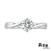 [精選美鑽8折]蘇菲亞SOPHIA - 情動0.30克拉FVVS1 3EX鑽石戒指