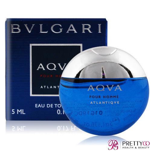 BVLGARI 寶格麗 勁藍水能量男性淡香水(5ML)[古龍水/隨身小香]【美麗購】