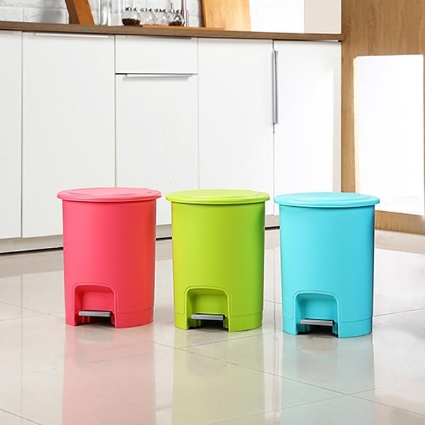 【彩虹踏式垃圾桶8L】三色可選 垃圾桶 腳踏式 回收桶 收納桶 台灣製造 KEYWAY 聯府 C909 [百貨通]