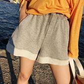 孕婦短褲春夏季薄款寬鬆時尚外穿翻邊黑灰色針織運動闊腿打底褲子 寶貝計書