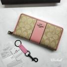 『Marc Jacobs旗艦店』COACH 52859|正品實拍|經典馬車C LOGO防刮皮革拉鏈長夾 錢包 皮夾